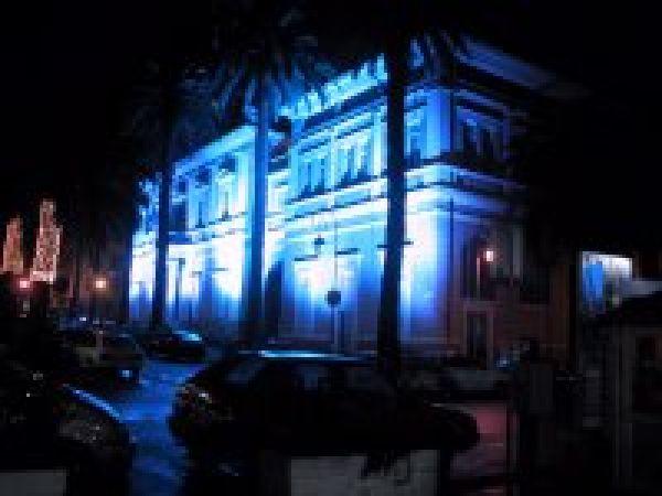 Eclairage bleu Mairie Ajaccio