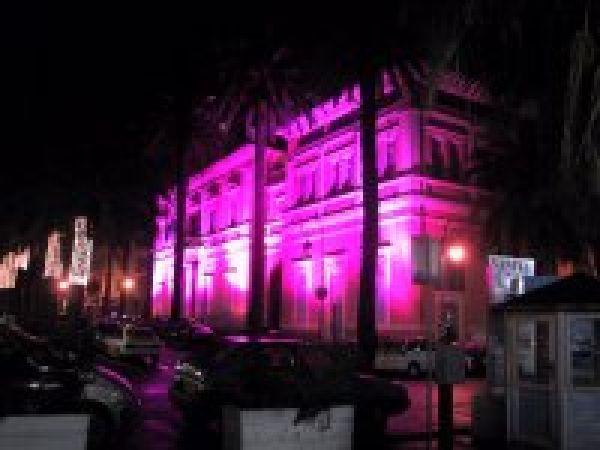 Eclairage rouge Mairie Ajaccio