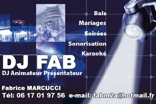 Carte De Visite DJ Fab Marcucci Corse