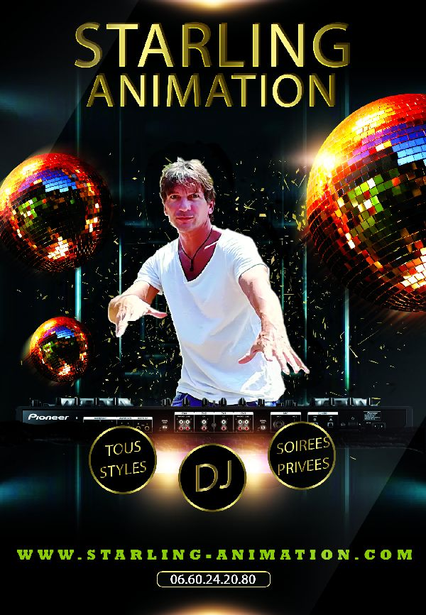 Affiche DJ Starling Animation