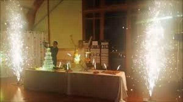 jet de scène pour votre gâteaux de mariage effet garantie