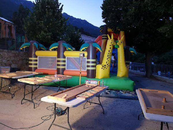 jeux en bois et jeux gonflable 25 enfants environ